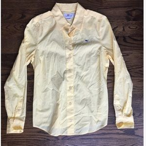 Vineyard Vines Yellow Long Sleeve Button Down
